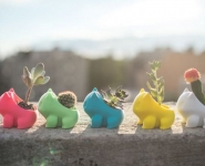 many-bulbasaur-3d-printed-planters